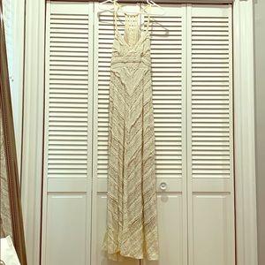 Boho ivory maxi dress
